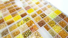 YELLOW CZECH BEADS LOT BIGGEST Assortment Czech Glass Beads SALE Czech Republic