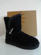 "NEW WOMENS UGG AUSTRALIA ""MEADOW"" SHEARLING-LINED SUEDE BOOTS BLACK $250+"