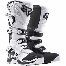 NEW FOX RACING MENS ADULT SIZE 13 WHITE COMP 5 MOTOCROSS MX ATV BOOTS RIDING
