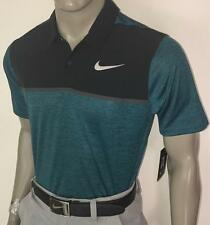 (467) 2017 FA Nike Tiger Woods TW Dry Blocked Golf Polo Shirt $85 (Blue)