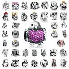 European 925 Animals Bead Silver Charms Fit Sterling Bracelets Bangle Necklace