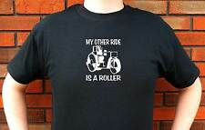 MY OTHER RIDE IS A ROLLER ROAD CONSTRUCTION EQUIPMENT GRAPHIC T-SHIRT TEE FUNNY