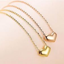 Pure 18K Gold Heart Smart Pendant with Chain Necklace Stamp Au750