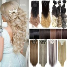 Real Natural 18Clips Clip in Full Head Hair Extensions Extension As Human Hair L