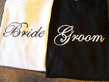 WEDDING SHIRTS! BRIDE AND GROOM QUALITY SHIRTS! GREAT GIFT !  FAST SHIPPING