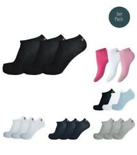 Fila 3 Pairs Socks Invisible Sneakers Trainers Unisex 35-46 Plain -