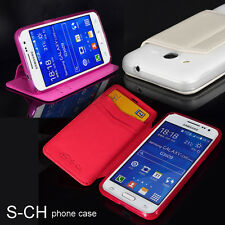For Samsung Galaxy SM-G355H Core 2 G355 Ultra Slim Leather Card Flip Phone Case