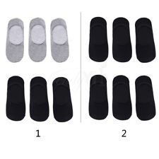 6 Pairs Men Cotton Invisible No Show Nonslip Boat Silicone Liner Low Cut Socks