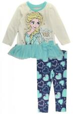Frozen Toddler Girls White Tunic 2pc Printed Legging Set Set Size 2T 3T 4T