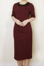 COUNTRY CASUALS Burgundy Red Black Beaded Collar Dress | SALE | RRP £129