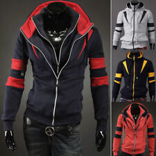 Men's Casual Fashion Slim Fit Sexy Designed Hoodies Sweaters Jackets Coats top v