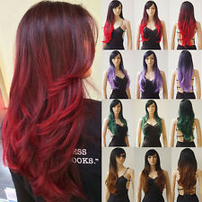 Black and Red Wig Heat Resistant Synthetic Hair Wig Halloween Costume Cosplay us