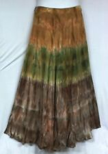 Women Clothing Tie Dye Long Wrap Skirt Dress One Size