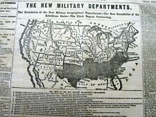 <1862 CIVIL WAR display newspaper with LARGE FntPg MAP of the CONFEDERATE STATES