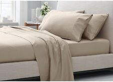 1000TC SOFT EGYPTIAN PURE COTTON SHEET SET FITTED+FLAT+PILLOWCASES QUEEN SIZE