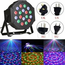18 LED RGB Stage Light DMX512 Par CAN DJ Disco Uplighter Lighting Effect Strobe