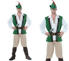 Robin Hood Mens Fancy Dress Costume Peter Pan Medieval Outfit S-XL