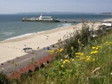 Bournemouth Pier and Beach, Poole Bay, Dorset, England... Stretched Canvas Print
