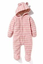 NWT Old Navy Girls Micro Fleece One-Piece 6-12 or 18-24 Months Striped Pink