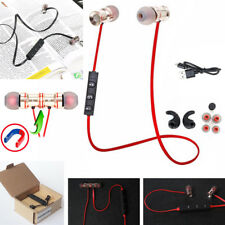 Red YP53 In-Ear Sports Bluetooth Headphone Headset Earphone For Call Phone Apple