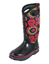 Bogs Outdoor Boots Womens Classic Pansies Rubber Waterproof 72117