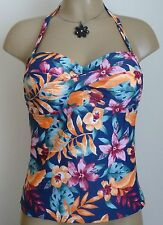 FIGLEAVES SOPHINA TANKINI TOP 34D 38F BANDEAU HALTER NECK UNDERWIRED PADDED BRA
