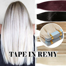 Europe Tape in Remy Human Hair Extensions Tangle Free 20/40/60 pieces AU Seller