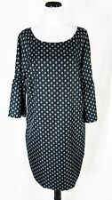 Banana Republic Dress size Extra Large Green Moss Paisley Bell Sleeves Modest