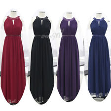 Sequin Women Bridesmaid Party Evening Dresses Long Prom Pageant Gown Dress 4-16