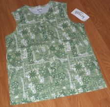 KENETH TOO KNIT TOP SHIRT SIZE S GREEN FLORAL  NWT