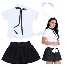Women Ladies Lingerie Fancy Dress French Maid Servant Costume Halloween Cosplay