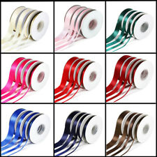 25 Yards 10/20/25/38mm Double Sided Satin Ribbon Gift Bow Wedding Craft 10 Color