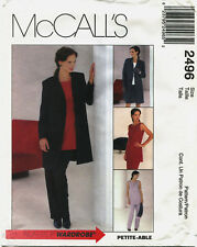 McCalls 2496 Misses Lined Coat Top Pants & Skirt Sewing Pattern ***