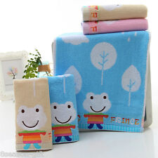 New Cloth Terry Double Towel Small Frog Cotton High Grade Mens Handkerchief CUTE