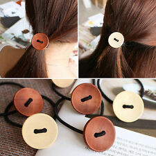 1Pcs Button Hair Accessories Elastic Hair Bands Rubber Bands Headwear for Women
