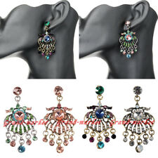 Fashion Elegant Charm Rhinestone Crystal Chandelier Stud Dangle Earrings Jewelry