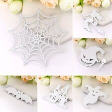New Die Cut Outs Silhouette Castle Witch Spider Web Shape Card Making Scrapbook