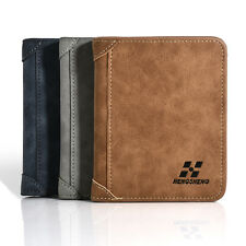 Men holder Clutch PU Leather ID credit Card Bifold Coin Purse Wallet Pockets U