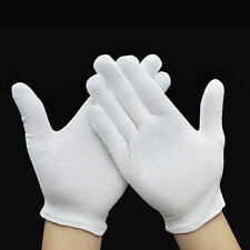 12 Pairs White Inspection Cotton Work Gloves Coin Jewelry Lightweight Pretty