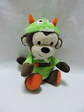 """Monster Monkey Plush Stuffed Animal 9"""" My First Halloween Rattle Just One You"""
