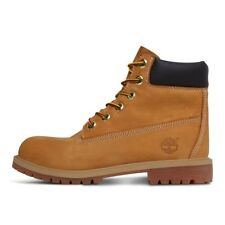Timberland Junior/Ladies 6-Inch Waterproof Boat 12909 Boots Wheat Nubuck Yellow