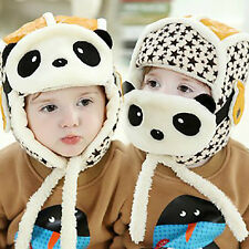 Lovely Panda Hat Baby Cap Kid Winter Cap Children Mask Warm Clothing Accessories