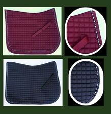 Horse Moisture Wicking Quilted All Purpose Saddle Pad crystal trim Bling -HORZE