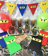 LEGO NINJAGO Children's Party Set Pack -Tableware/Plates/Party Bags/Decorations