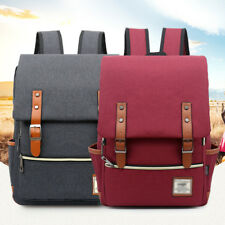 Canvas School classic Mens Backpack Laptop Travel Rucksack Satchel Shoulder Bag