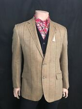 Luxury Linen Sports Jacket, Green Check, Size 42 Reg, Brand New With Tags.