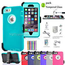 iPhone 7 6s 6 Plus Shockproof Protect Case Heavy Duty Belt Clip Holster fr Apple