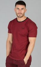 Intense Mens Fashion T Shirt Crew Neck Short Sleeve Tee Slim Fit Gym Top Red New