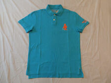 American Eagle AE NYC Athletic Fit Short Sleeve Polo Shirt Blue New