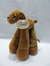 "Bestever Puppy Dog Plush Brown Red Bandana  Stuffed Animal Toy 10"" Funny Feet"